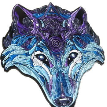 Chrome Wolf Pin 2