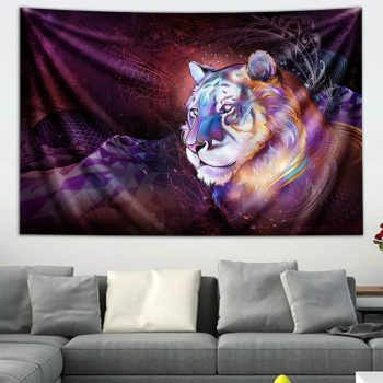 Astral Tiger Tapestry by Mugwort