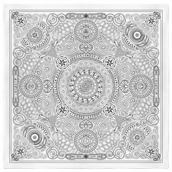 Arcana Bandana - White and Black 2