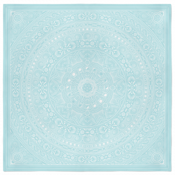 Lunar Bandana – Baby Blue and White 2