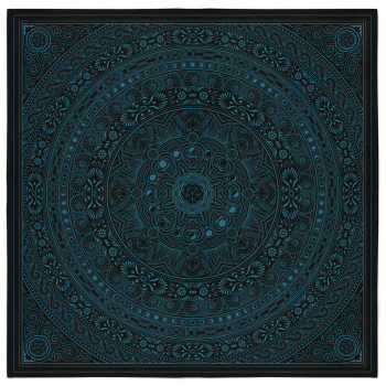 Lunar Bandana – Black and Teal 2