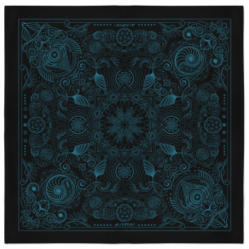 Nautilus Bandana - Black and Teal 2