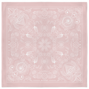 Nautilus Bandana – Soft Pink and White 2